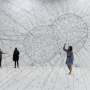Tomás  Saraceno,  ON  AIR,  solo  exhibition  at  Palais  de  Tokyo,  Paris,  2018,  curated  by  Rebecca  Lamarche-Vadel.    Courtesy  the  artist;  Andersen's,  Copenhagen;  Esther  Schipper,  Berlin;  Pinksummer  Contemporary  Art,  Genoa;  Ruth  Benza