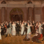 Rolinda Sharples (1793 1838), Le Vestiaire de la salle de bal de Clifton (The Cloak Room, Clifton Assembly Rooms), 1818. Huile sur toile, 73 x 88.2 cm, K1075 © Bristol, Bristol Museum & Art Gallery