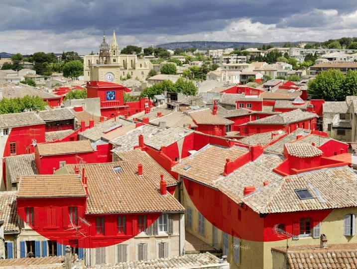 Marseille provence 2013 felice varini double disque for Salon de provence marseille